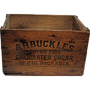 Wood Advertising Box For Arbuckles Sugar