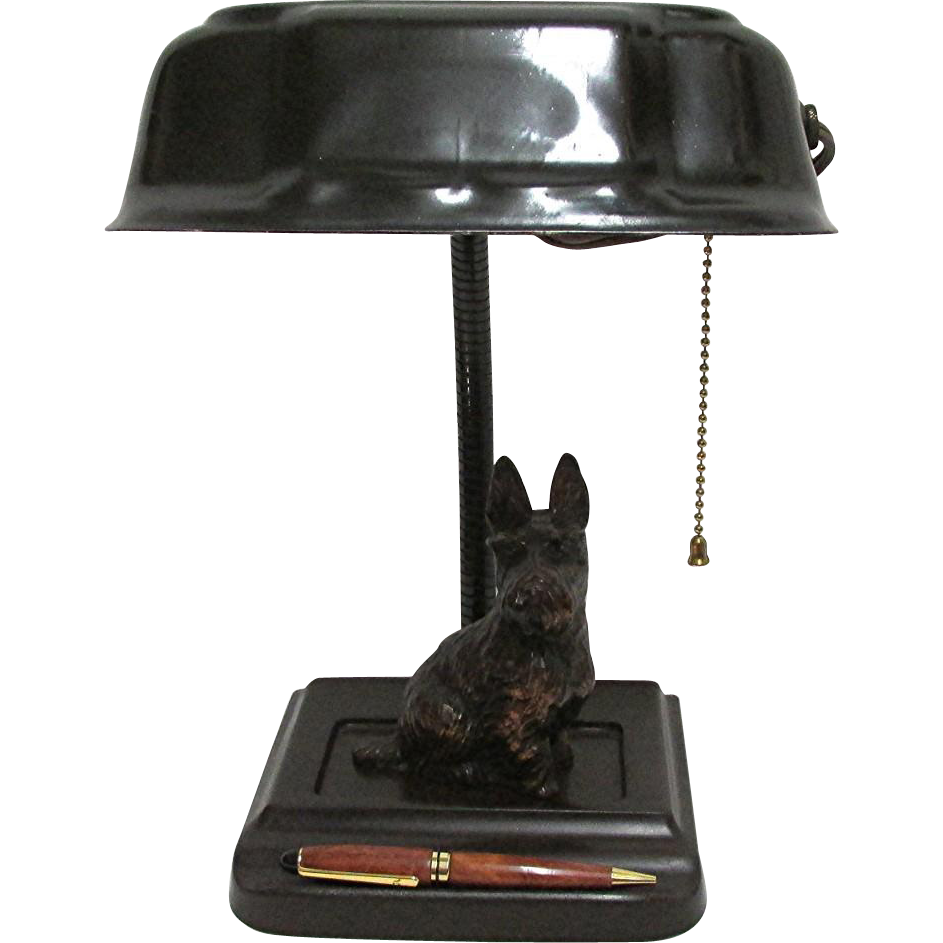 Desk Lamp Scottie Dog Near Mint Working Condition
