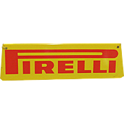 Original Metal Automotive Advertising Sign For Pirelli