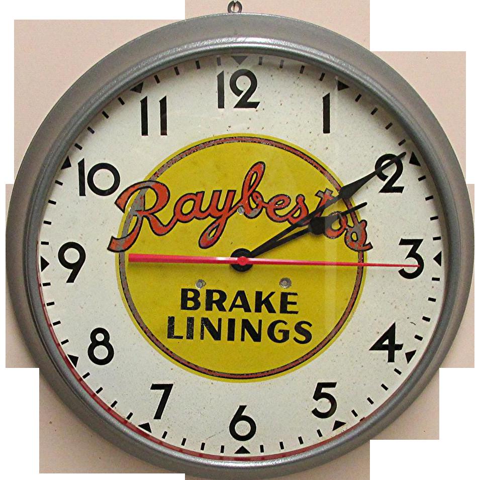 Automotive Advertising Clock for Raybestos Brake Linings of Bridgeport Connecticut