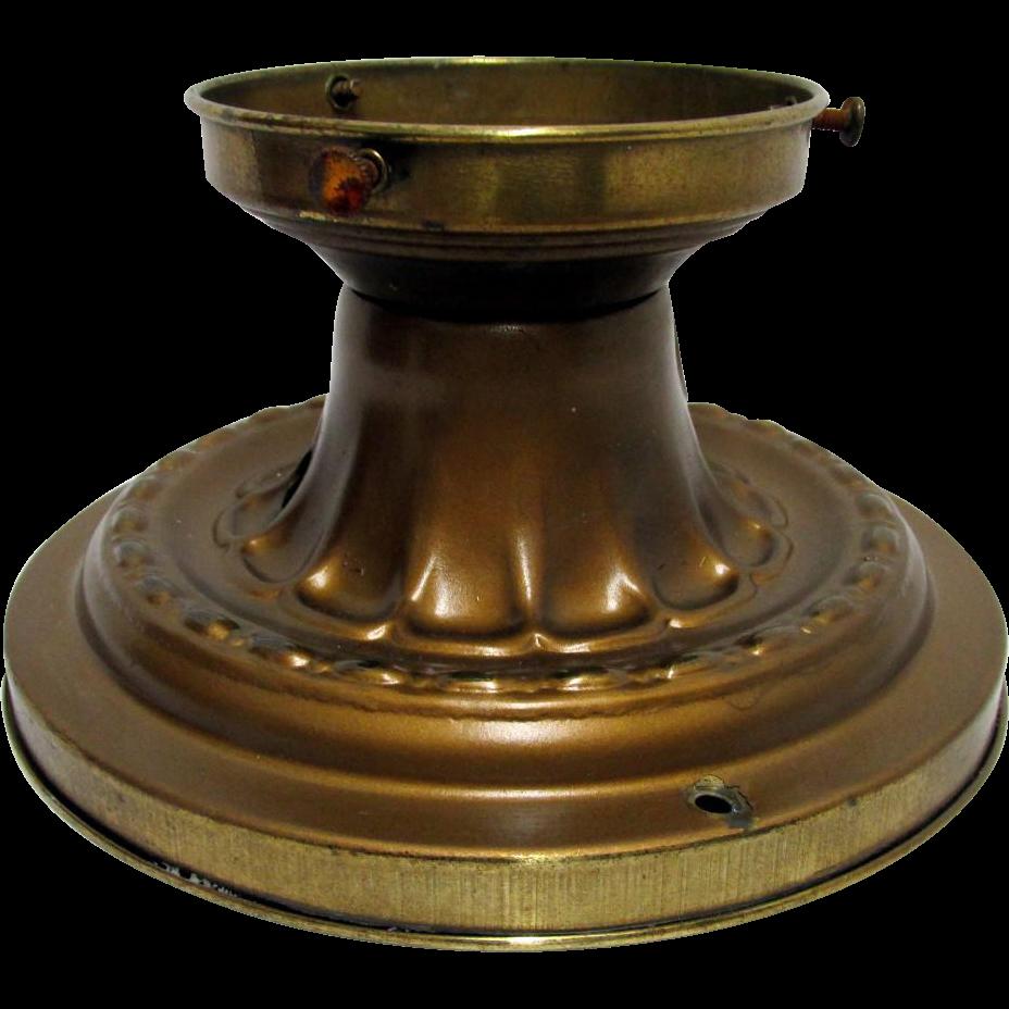 Antique Ceiling Light Brass Embossed Canopie