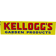 SOLD    See 50+ ,more  Available to Purchase      Kelloggs Garden Products Tin Advertising Sign