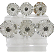 Sandwich Glass Octagonal Knobs or Pulls