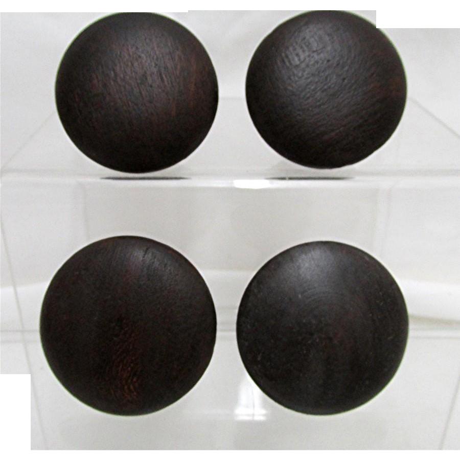 Four Period Wood Knobs