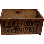 Wood Advertising Box For Lake County California