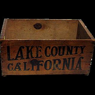 Lake County California Wood Advertising Box