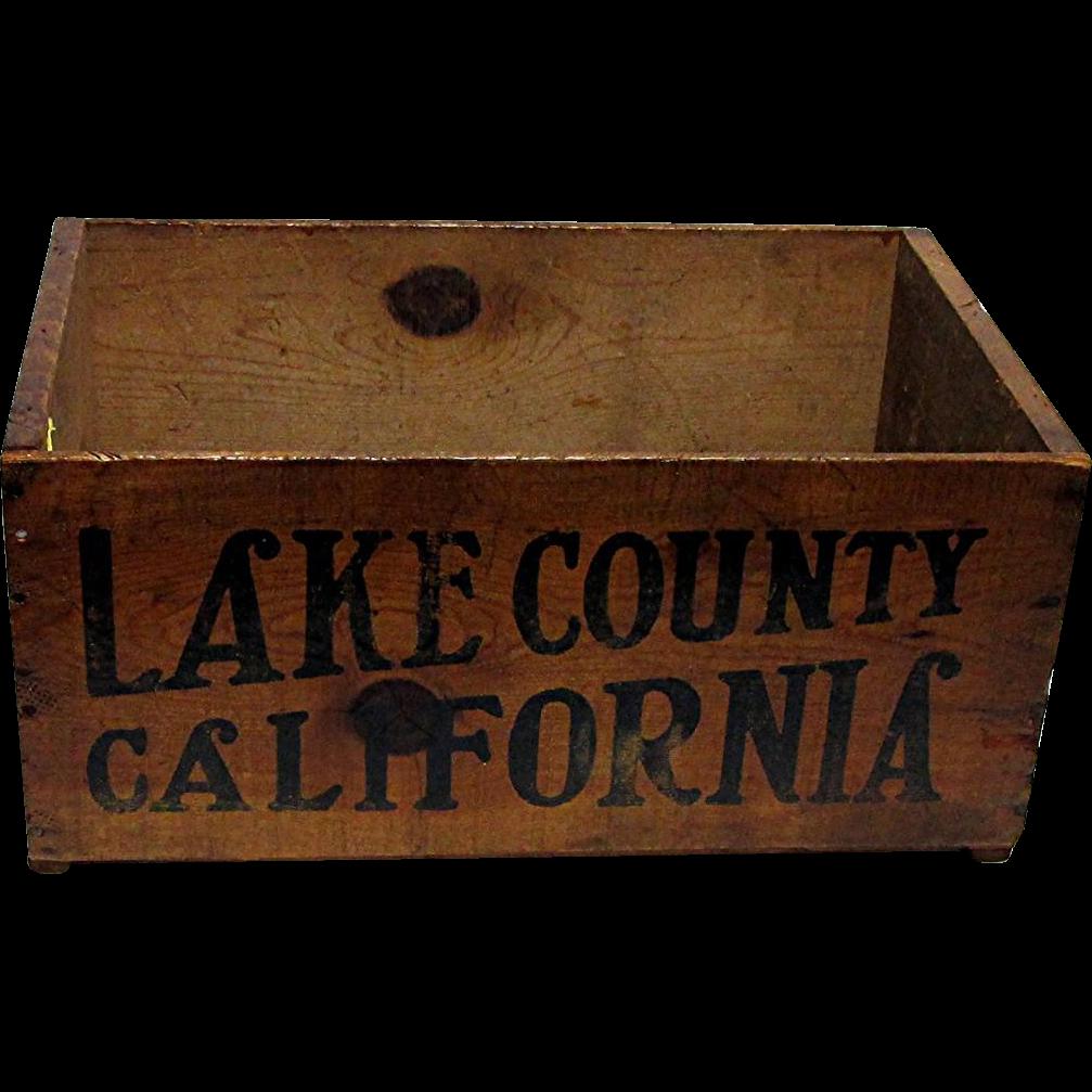 Wood Advertising Box For Lake County California