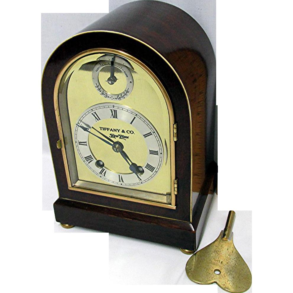 ANTIQUE  Rare Miniature Tiffany 11 Jewel Chiming Mantel Clock