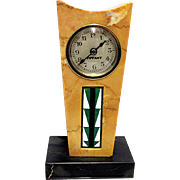 Antique French Art Deco Marble Clock Retailed by Tiffany