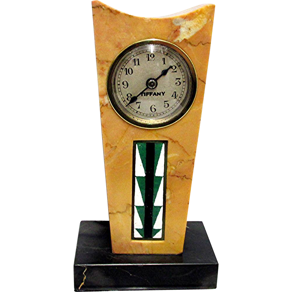 Antique French  Marble Clock Retailed by Tiffany
