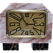 French Art Deco Marble Clock