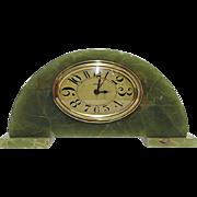 Green Onyx French Art Nouveau Clock