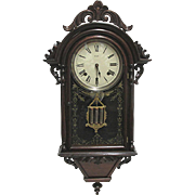 Welch Italian Hanging VP Antique Wall Clock