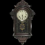 Welch Italian Hanging VP Antique Wall Clock