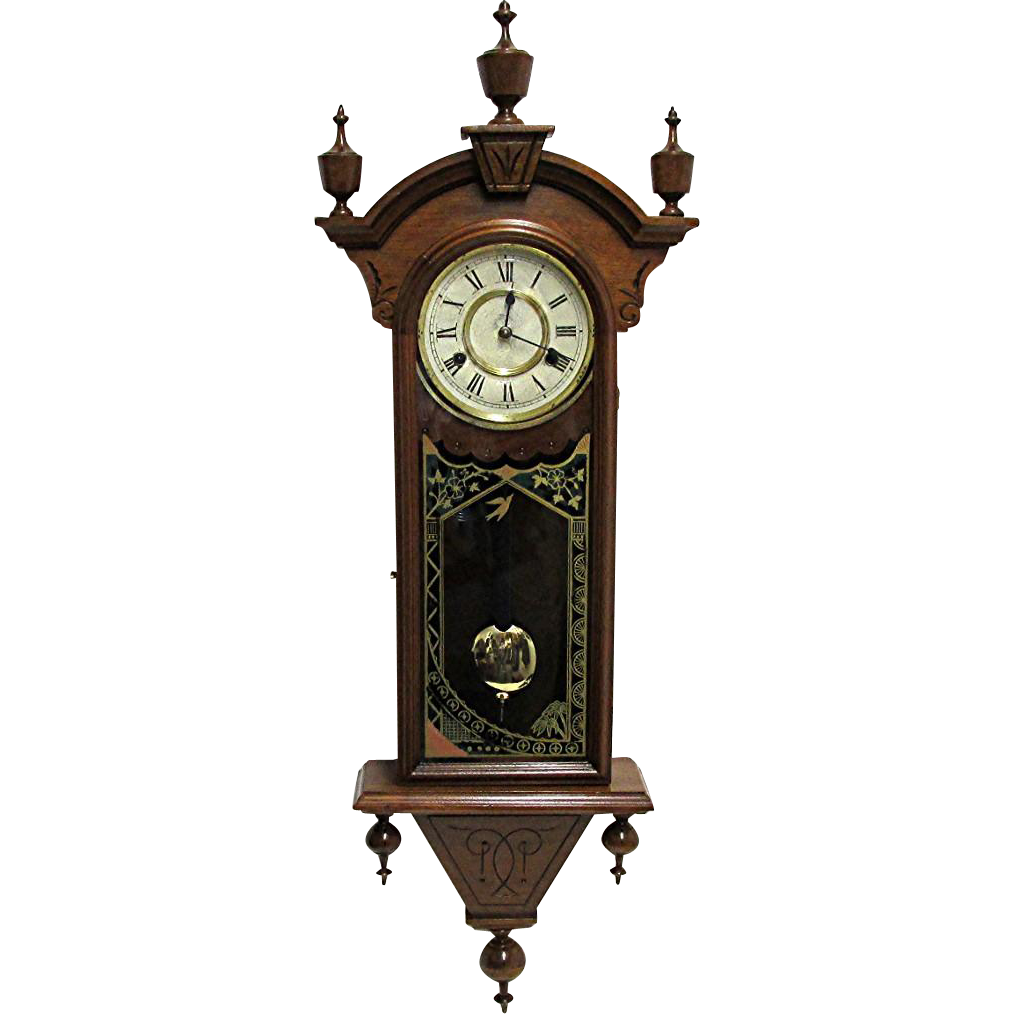 Antique American Chiming New Haven Wall Clock from drury ...