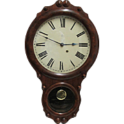 Seth Thomas Walnut Antique Wall Clock