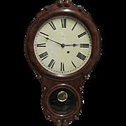 Seth Thomas Walnut Antique Wall Clock
