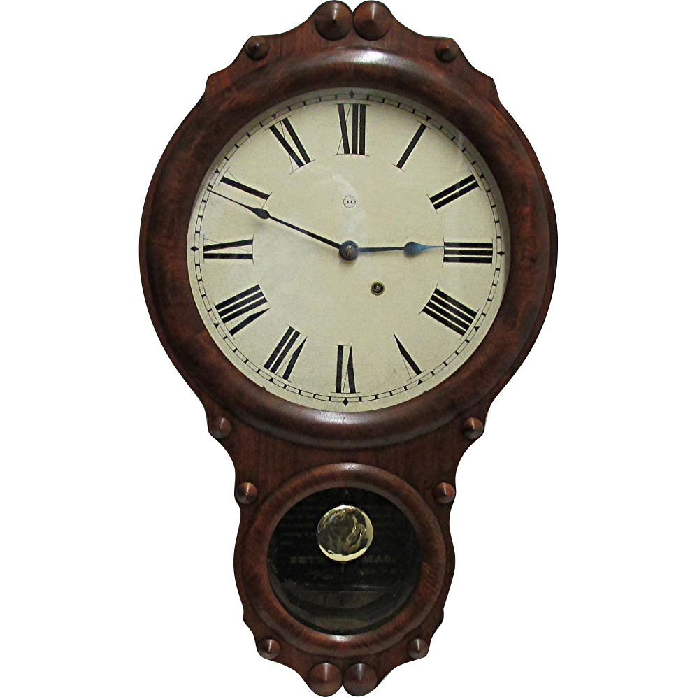 SOLD Seth Thomas Walnut Antique Wall Clock