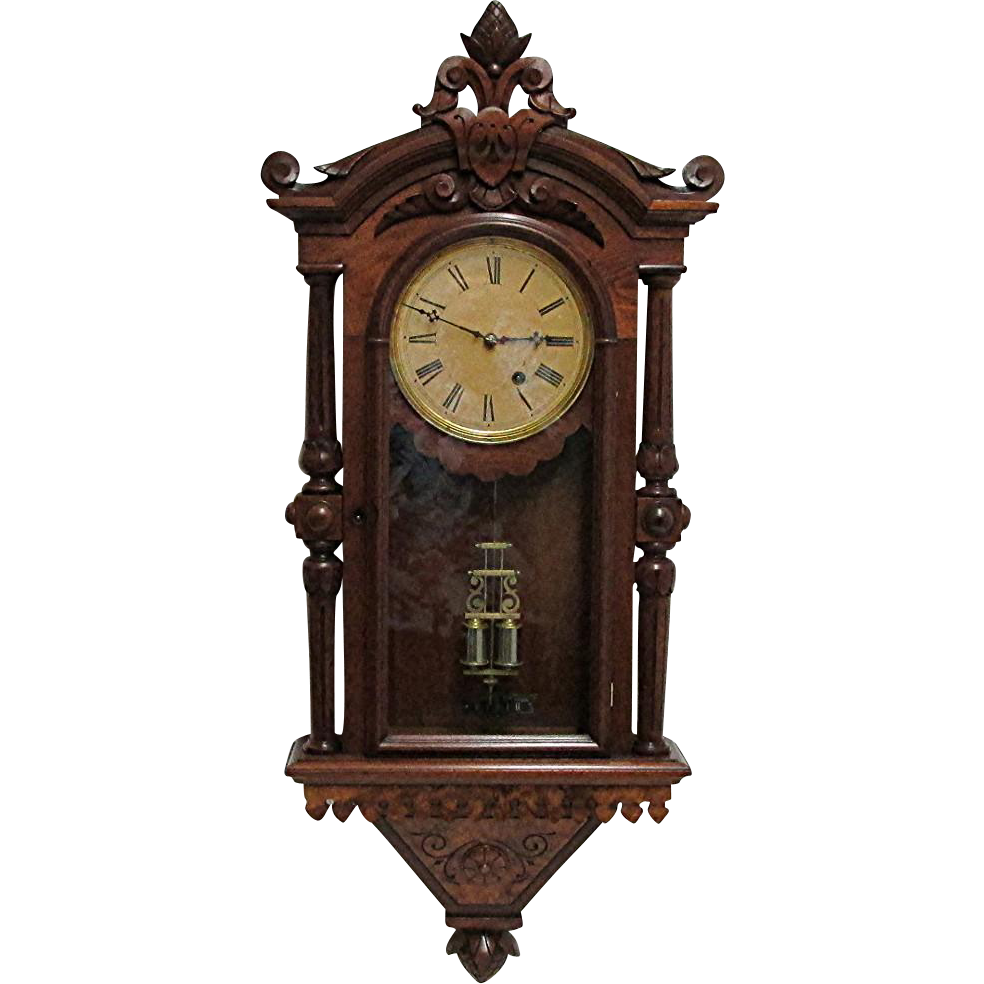 kroeber regulator 30 antique wall clock from drury on ruby lane