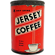 Jersey  Coffee Advertising Tin
