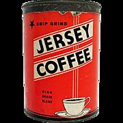 Jersey  Coffee Advertising Tin