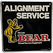 Bear Metal Automotive Advertising Sign