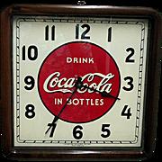 Wood Case Original Coca Cola Clock