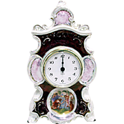 German Porcelain Clock