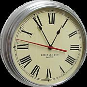 E. Howard Round Wall Clock