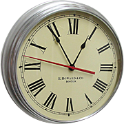E. Howard Round Wall Clock