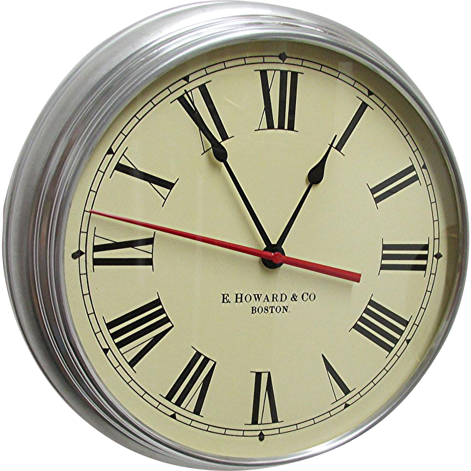 SOLD   We have many others to choose from     E. Howard Round Wall Clock