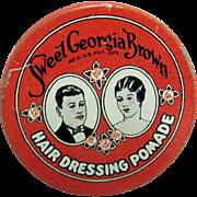 Sweet Georgia Brown Hair Dressing Promade  Pocket Tin