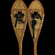 Pair of Antique Snowshoes NO Damage