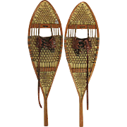 Pair of Iver Johnson Boston Snowshoes