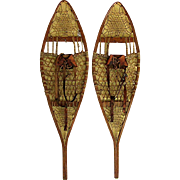Pair of Antique Maine Snowshoes