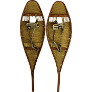 Matched Pair of USA Antique Snowshoes