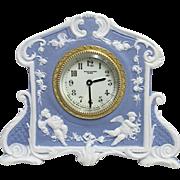 SOLD    Antique Wedgwood Clock Blue Jasper