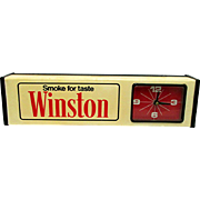 Advertising Clock  for Winston Salem Cigarettes with Backlight