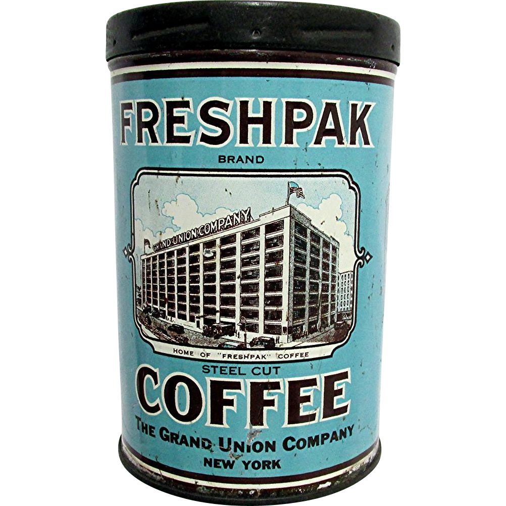 Fresh Pack Coffee Advertising Tin
