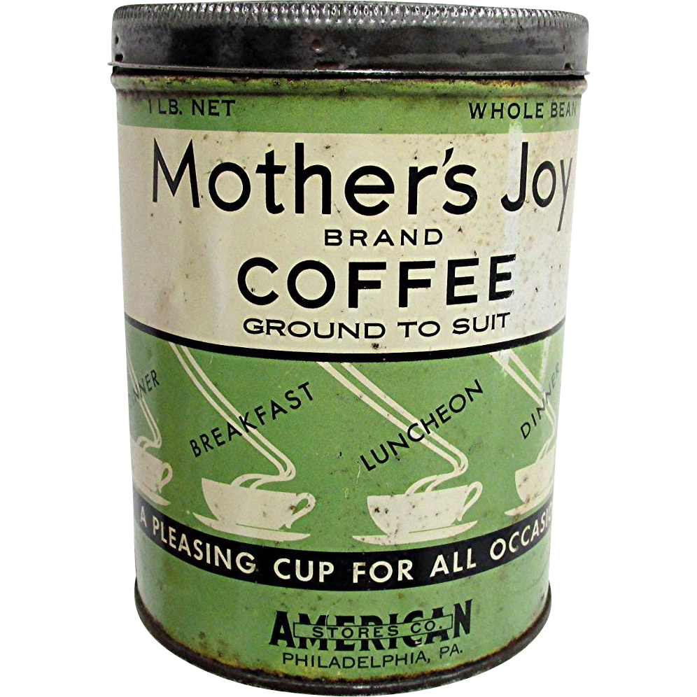 Advertising Coffee Tin Mothers Joy