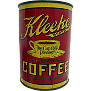 Advertising Coffee Tin Kleeko Pittsburgh