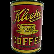 Advertising Coffee Tin Kleeko Pittsburgh