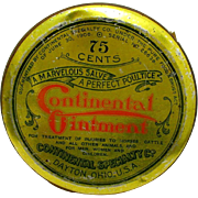 Veterinary Tin Unopened Continental Ointment