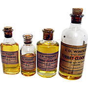 Windle's Turret Clock Oil 4 Bottles  Private Packaging - Red Tag Sale Item