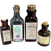 Pharmacy Bottles  Four Samples
