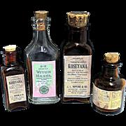 Advertising Pharmacy Bottles  Four Samples