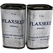 Flaxseed TWO Unopened Pharmacy Tins