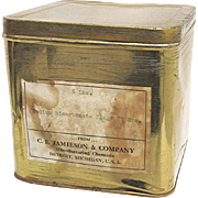 Sodium Bicarbonate 5 Pound Pharmacy Advertising Tin