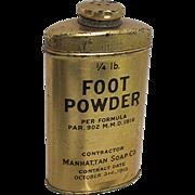 Foot Powder Advertising Pharmacy Tin Unopened
