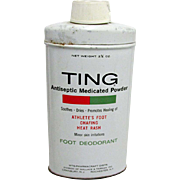 TING Foot Powder Drugstore Advertising Tin